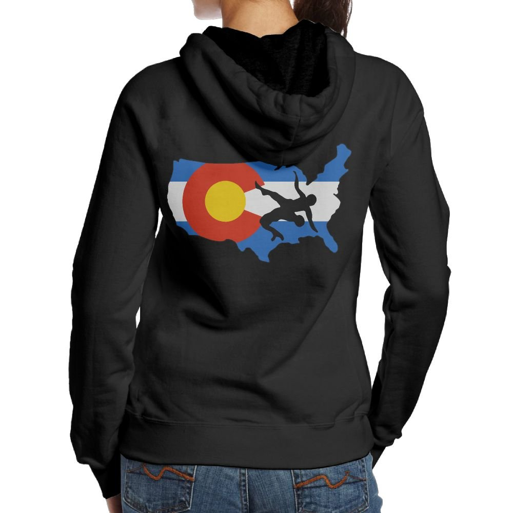 Colorado USA Wrestling Women's Pullover Hoodie Sweatshirt,Back Print