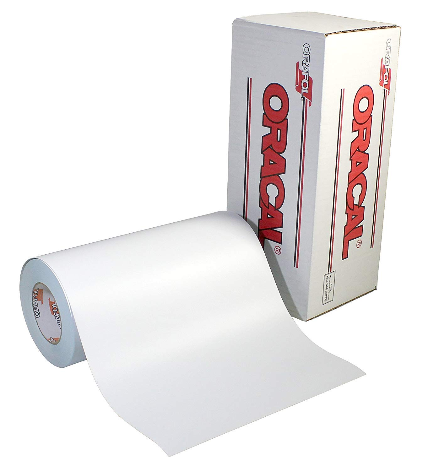Roll of Oracal 651 Matte White Vinyl for Craft Cutters and Vinyl Sign Cutters 12x5ft Matte