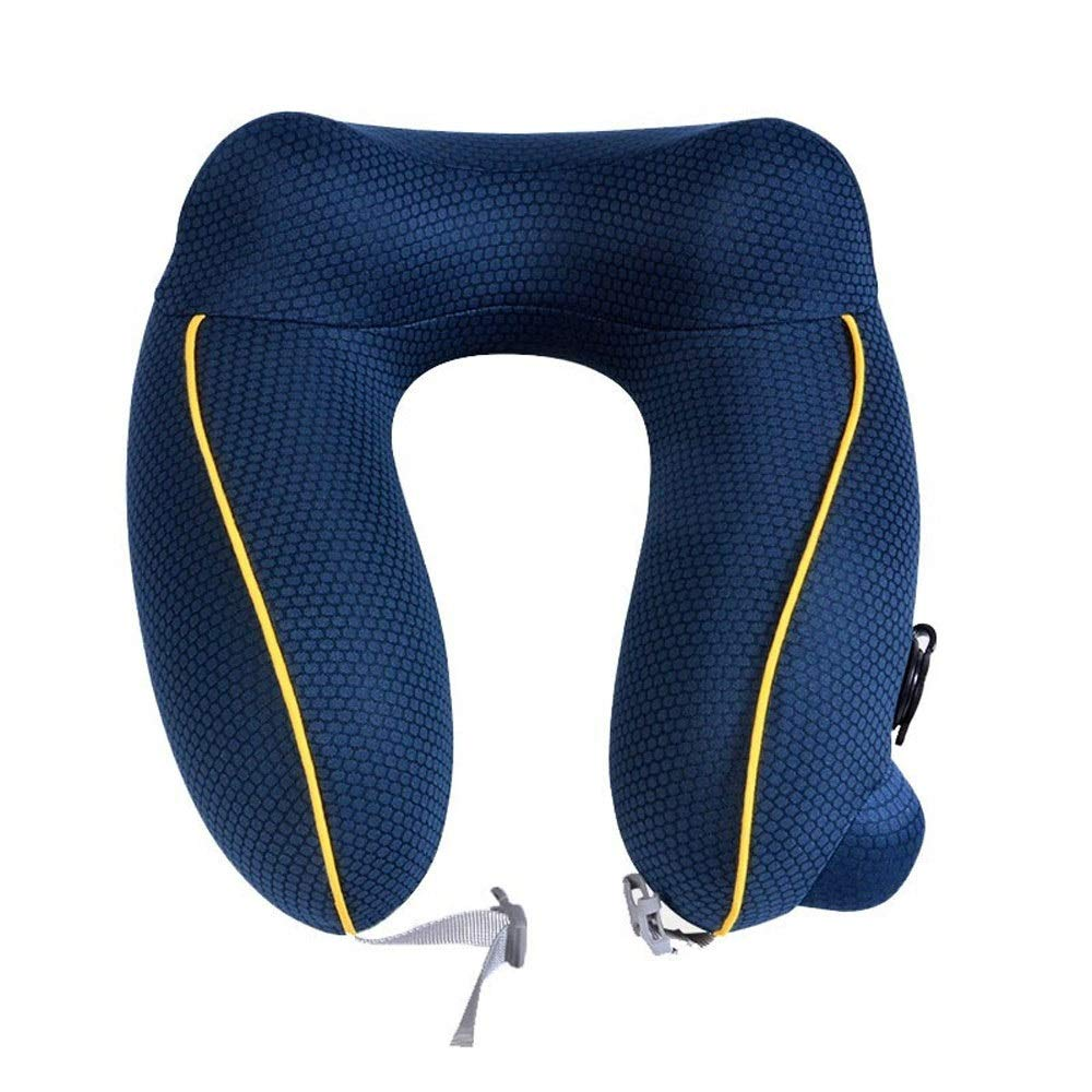 Household Products Comfortable PortablCompact Inflatable Pillow Lig Inflatable Pillows - Outdoor Portable Pillow, Travel Inflatable Pillow, nap Pillow Neck Pillow (Color : Blue) by Household Products