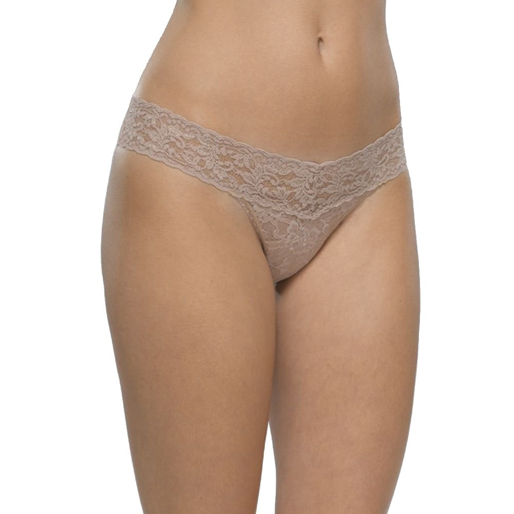 7cda82f763be Amazon.com: Hanky Panky One Size Petite Size Low Rise Thong Taupe: Clothing