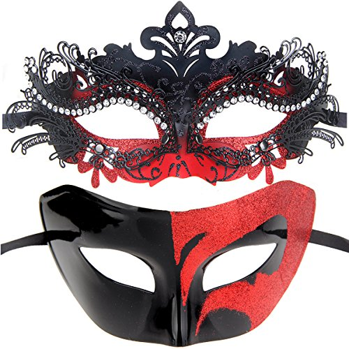 One Pair Couples Half Wedding Venetian Masquerades Masks Party Costumes Accessory -