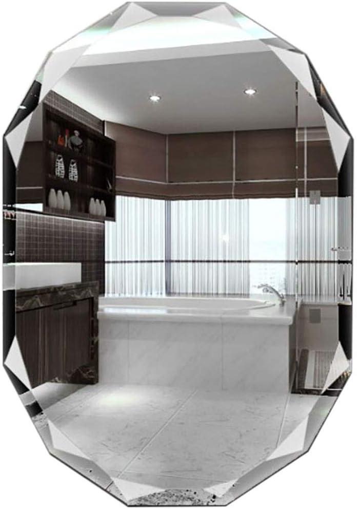 LXDDP Espejo sin Marco hipotenusa en Forma Diamante, Panel Vidrio con Respaldo Plata Primera Calidad   Tocador, Dormitorio o baño   El Espejo cuelga Horizontal o Vertical: Amazon.es: Deportes y aire libre