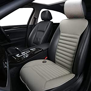 Big Hippo Heated Seat Cushion, Universal 12V Car 24V Truck Seat Heater with AC Adapter - Heated Car Seat Cover Pad for Car Seat, Office Chair and Home Use (Gray)