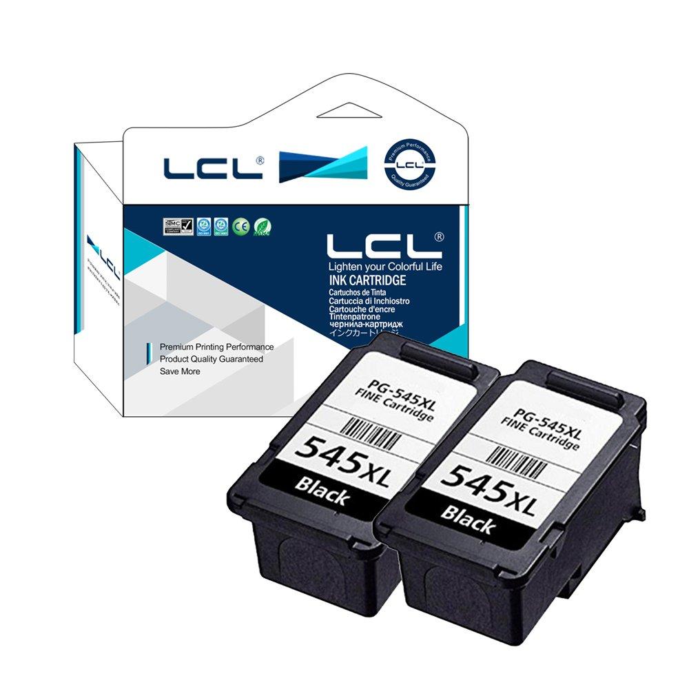 LCL Cartouche d'encre Compatible Indiquant la capacité de l'encre PG545 PG-545 PG545XL PG-545XL (2 Noir) Remplacement pour Canon PIXMA iP2850/PIXMA MG2450/PIXMA MG2550/PIXMA MX495/PIXMA MG2950