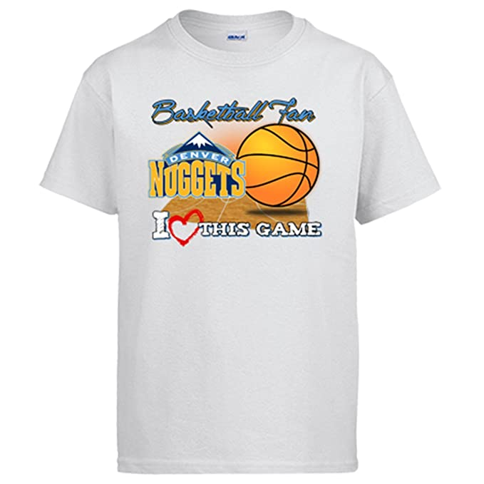 Camiseta NBA Denver Nuggets Baloncesto Basketball fan I Love This Game - Blanco, 5-6 años: Amazon.es: Ropa y accesorios