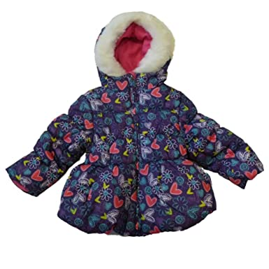 15aeee3d9 Amazon.com  Pacific Trail Toddler Girl Purple Floral Winter Ski ...