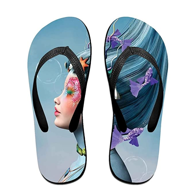 Full Light Blue Womens' Flip Flops For Sandals Pool Antimicrobial Shower & Water