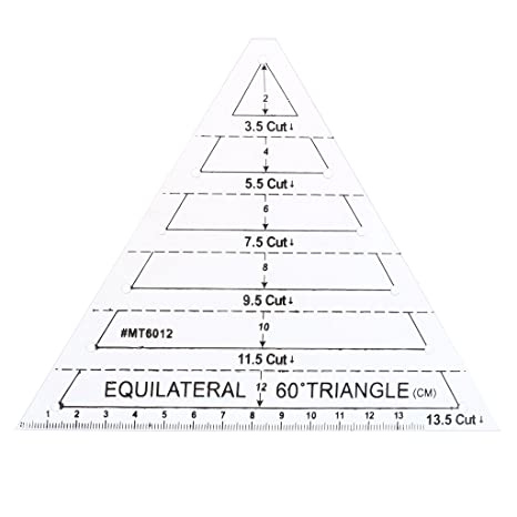 Sharplace 4pcs Quilting 60° Dreieck/Hexagon/60°/45° Diamant Vorlage ...