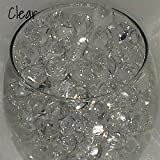 jelly ball clear - Mega Shop - Fish Bowl Beads 20 Packs / Set Filler Vase for Diy Slime Acrylic Plastic Clear Round - aqua decorative pot glass Jelly Balls Bio Gel (Clear)