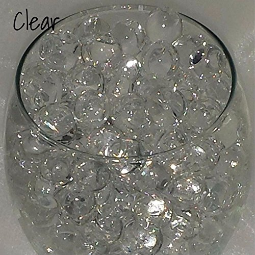 Mega Shop - Fish Bowl Beads 20 Packs / Set Filler Vase for Diy Slime Acrylic Plastic Clear Round - aqua decorative pot glass Jelly Balls Bio Gel (Clear)