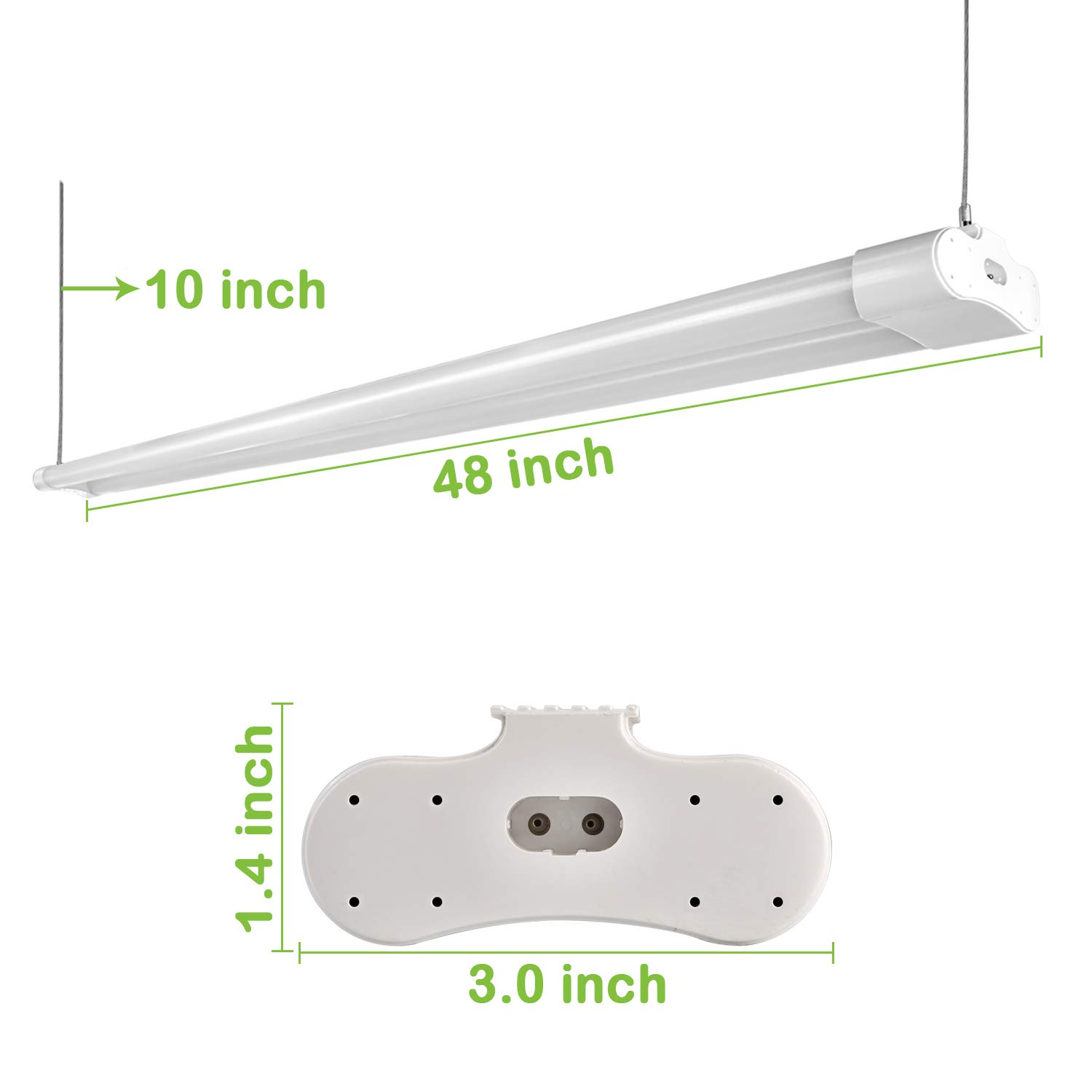 Hykolity 4FT 36W Linkable LED Shop Light With Cord, 3600lm