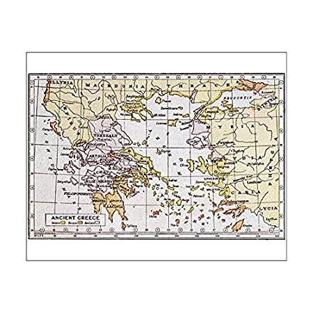 photo relating to Printable Map of Ancient Greece called Media Storehouse 10X8 Print Of Map Of Historical Greece (600235)