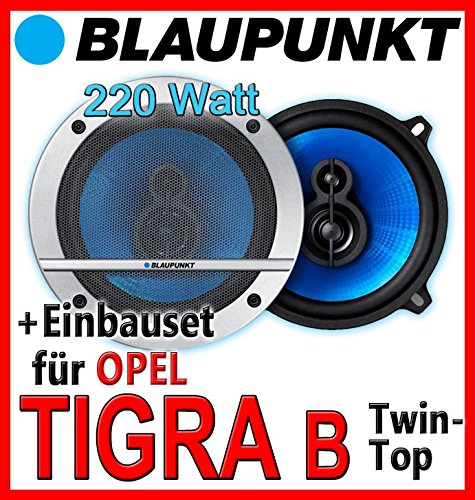 Einbauset f/ür Opel Tigra B Twin Top JUST SOUND best choice for caraudio Magnat Edition 132-13cm Koaxiallautsprecher