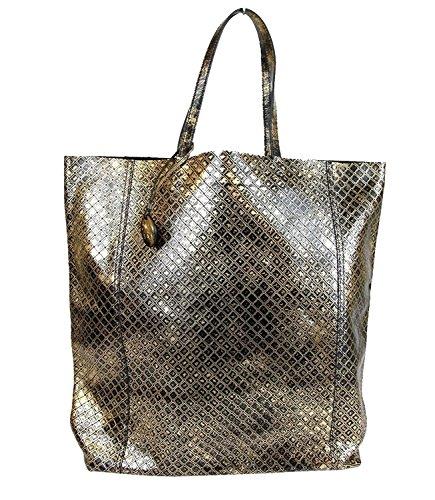 Bottega Veneta Gold and Black Intrecciomirage Leather Tote Bag 298779 8414 Bottega Veneta Black Bag