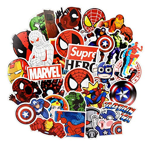 Superheros Stickers for Water Bottles,Vinyl Stickers for Laptop Skateboard Luggage Decal Graffiti Patches Stickers in Bulk -