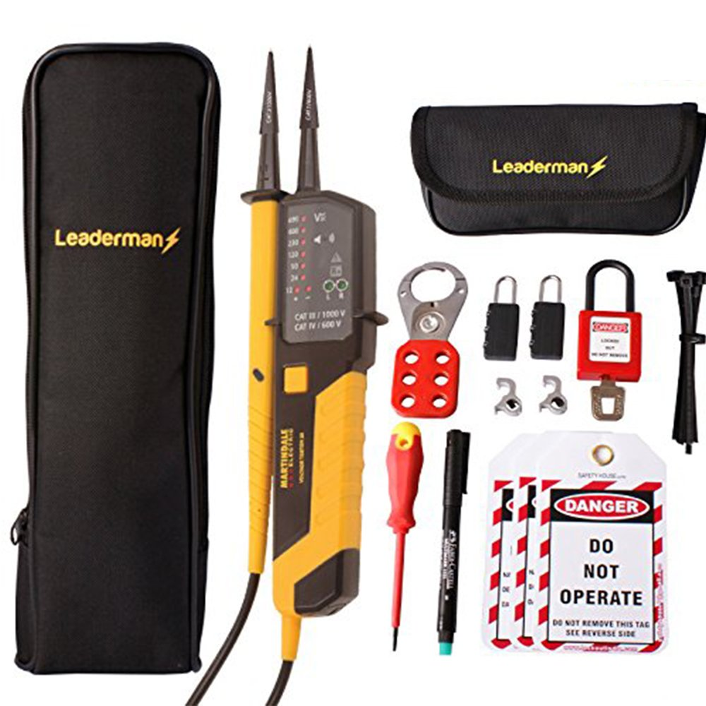 Fluke T90 Voltage and Continuity Tester PLUS MCB Lock Out//Off Kit LOS-K1