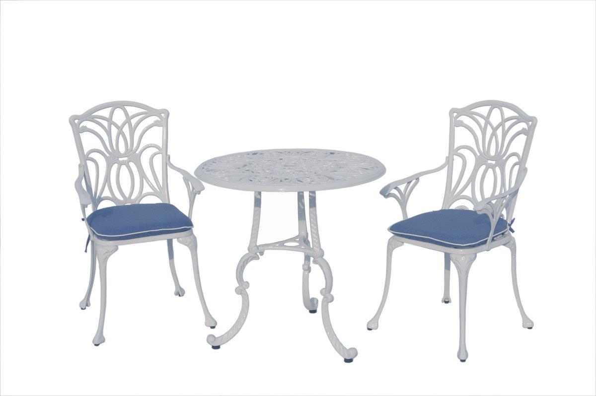 Leisuregrow norfolk white 2 seater bistro garden furniture set amazon co uk garden outdoors