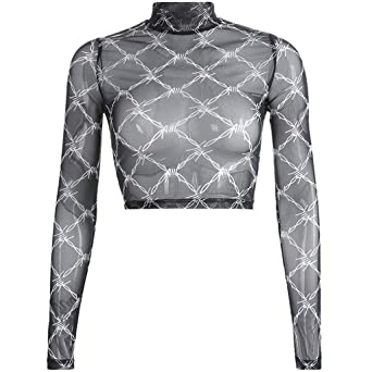 Coaches' & Referees' Gear nanzhushangmao bra Womens Glitter Sheer See Through Mesh Top Tee Blouse Plus Size Seamless Arm Shaper Mesh Tops