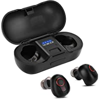SENCER Wireless Earbuds Bluetooth Earphones with Mic, with 480 mAh Charging Case, CVC 6.0 Noise Cancelling, 3D Stereo Sound, HD Microphone, 20 Hours Playtime, IPX6 Waterproof Sports Headset (Black)