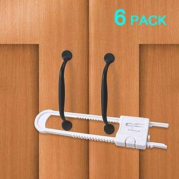 sliding cabinet locks edealing u shaped child safety locks baby rh amazon co uk Dream Baby Cabinet Lock 2 Pack Best Cabinet Locks Baby Proofing