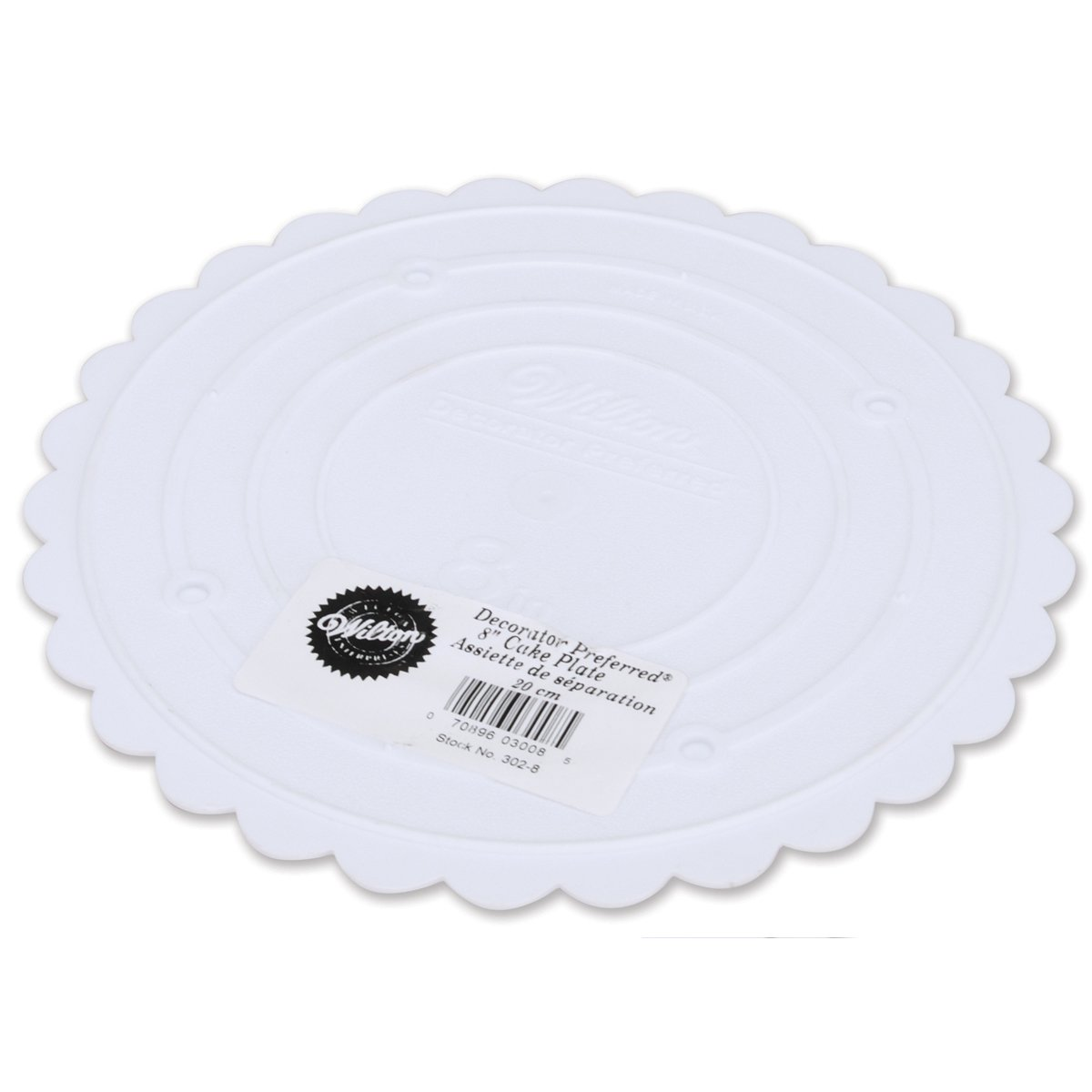 Amazon.com Wilton 302-8 Decorator Preferred Round Separator Plate for Cakes 8-Inch Childrens Party Plates Kitchen \u0026 Dining  sc 1 st  Amazon.com & Amazon.com: Wilton 302-8 Decorator Preferred Round Separator Plate ...