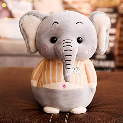 BEST9 Juguete Suave de la Cara y el calucho del Elefante Juguete de la Historia de los niños compañero Relleno Almohada Elefante muñeca cumpleaños cumpleaños Juguetes, 25 cm: Juguetes y juegos
