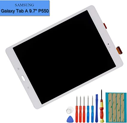 """NEW LCD Digitizer Touch Screen Assembly For Samsung Galaxy Tab A 9.7/"""" SM-T550"""