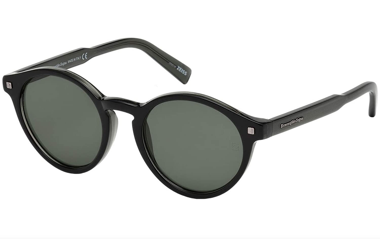 0b65709574 Amazon.com  Sunglasses Ermenegildo Zegna EZ 63 EZ 0063 05N black other    green  Clothing