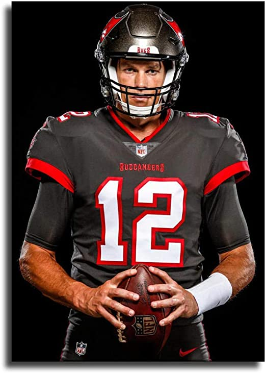 amazon com tom brady buccaneers jersey canvas art poster and wall art picture print modern family bedroom decor postersyoyoi posters prints tom brady buccaneers jersey canvas art