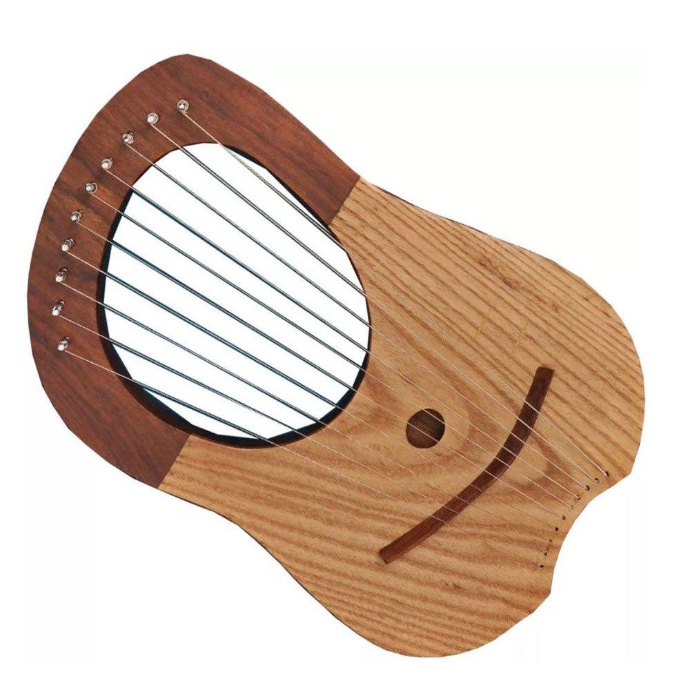 Marca nueva Lira (Arpa de palisandro 10metal cuerdas libre caso + clave House of Highland 77