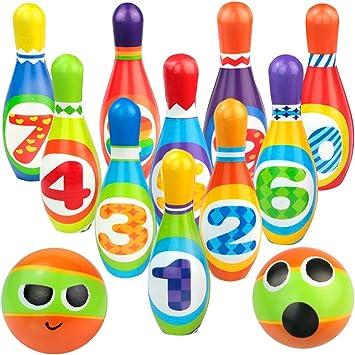 yoptote Bolos Infantiles Sets de Bolos Juguete Bowling Juegos ...