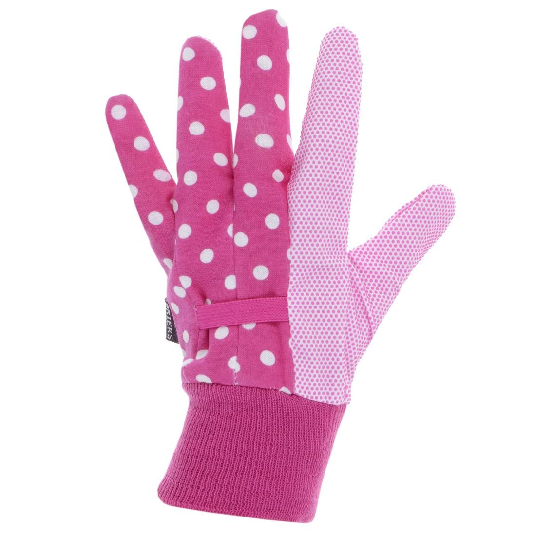 Briers Water Resistant Gardening Gloves Home Garden DIY Ladies Accessory Pink Polka Dot Size Medium