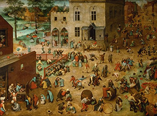 - Pieter Bruegel The Elder - Children's Games, Size 24x32 inch, Poster Art Print Wall décor