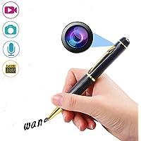 HD Micro Mini DV Hidden USB Spy Camera Cam Portable Pen 1080P Video Resolution Multifunction Photo Recorder Easy to Use Golden@Laing