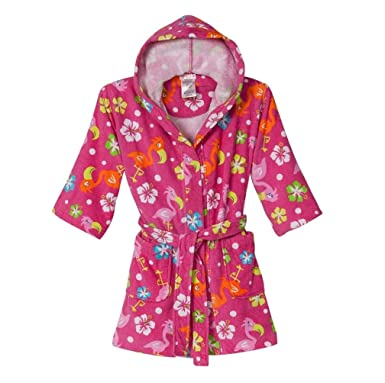 Amazon.com: St. Eve las niñas con capucha Terry Robe Traje ...