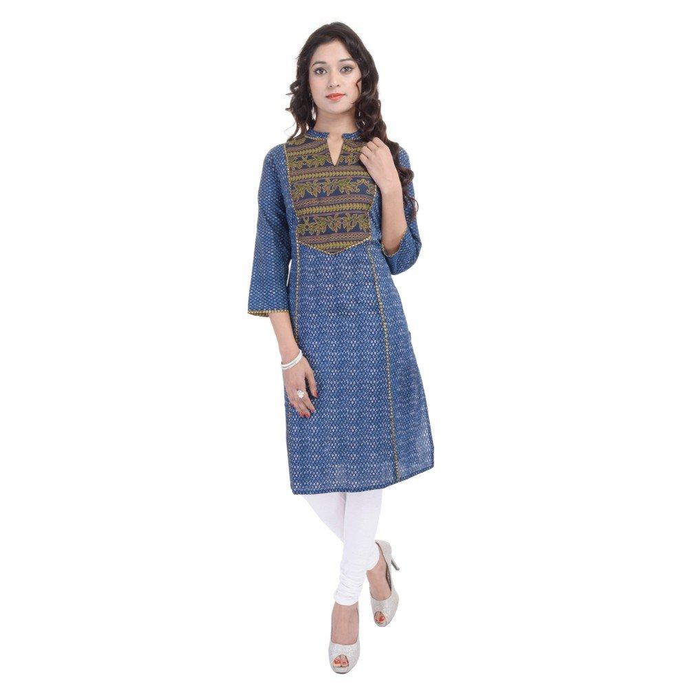 Vihaan Impex Tunika Damen Kleidung Damen Indische Kleidung Kurta Damen Indische Tunika Damen Tunika VIKU2496