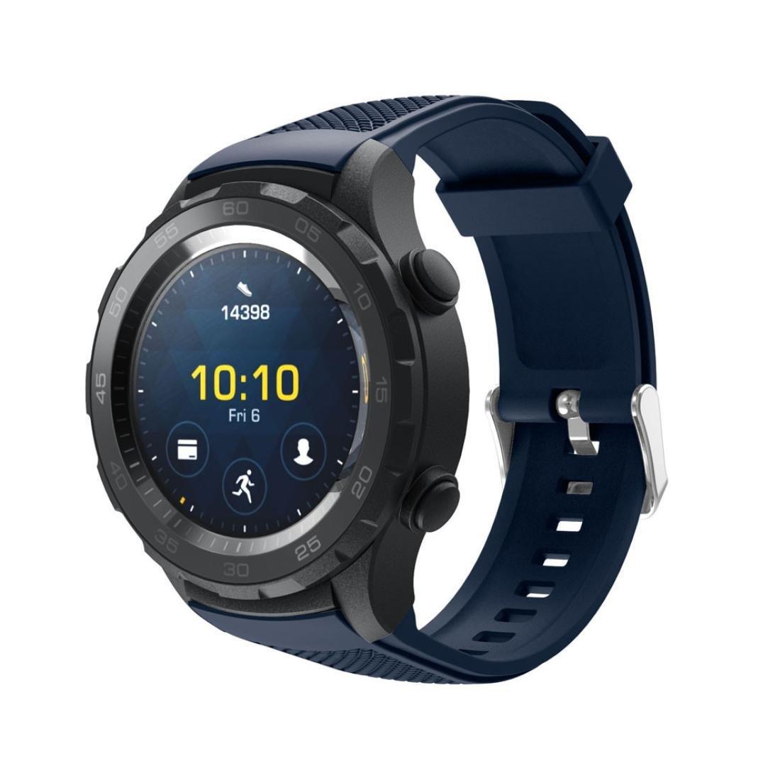 Editor 's Choice Memela ( TM ) for Huawei Watch 2時計、ファッションシリコンスポーツクイックリリースソフトラバー交換用時計バンド ブルー ブルー B075XMQ5VL