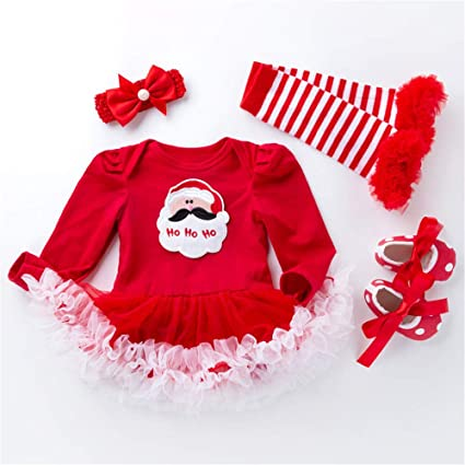 509acc54c QSEFT  4 Juegos de Vestidos de Navidad para bebé