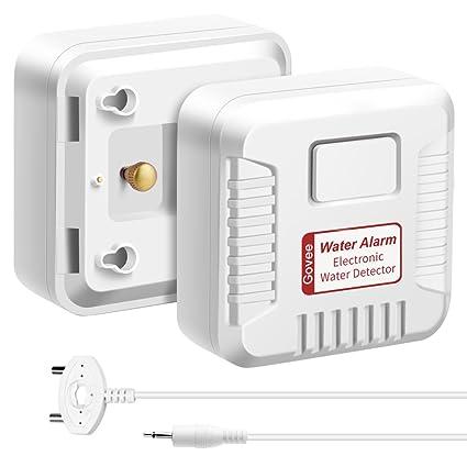 2 in 1 water alarm govee wireless and wire water detector alarm rh amazon com water sensor for basement floor basement watchdog battery water sensor