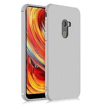 Hevaka Blade Xiaomi Mi Mix 2 Funda - TPU Carcasa Smart Case Cover Para Xiaomi Mi Mix 2 - Gris
