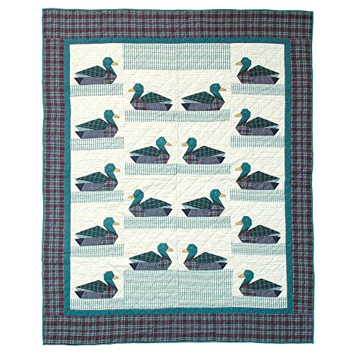 Patch Magic Twin Ducks Quilt, 65-Inch by 85-Inch (Patch Magic Twin Quilts compare prices)