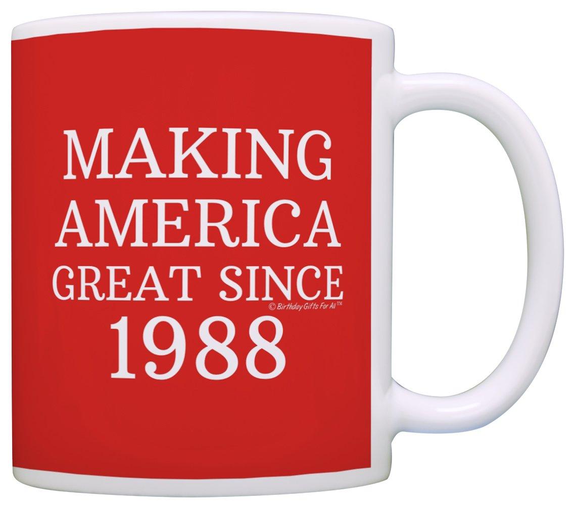30th Birthday Gifts For All Making America Great Since 1988 Republican Mug Republican Gifts Coffee Mug Tea Cup Red