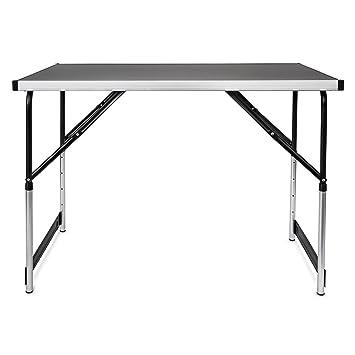 Campingtisch höhenverstellbar Tisch 100x60x73-94 Falttisch: Amazon ...