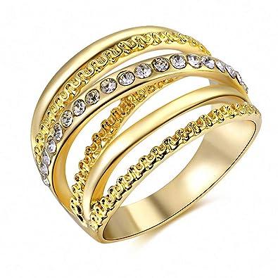 Amazon Com Womens Mens Women Ring Rose Gold Color Finger Engagement