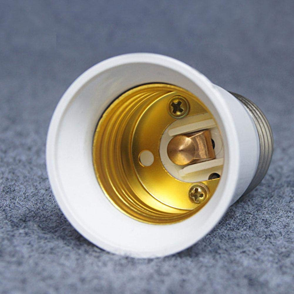 da E14 a E27 Portalampada da E27 a E14 Convertitore da Presa Domestica Conversio Kit Adattatore Lampadina Base Splitter Vite Interfaccia Spirale Resistente al Calore E14-E27