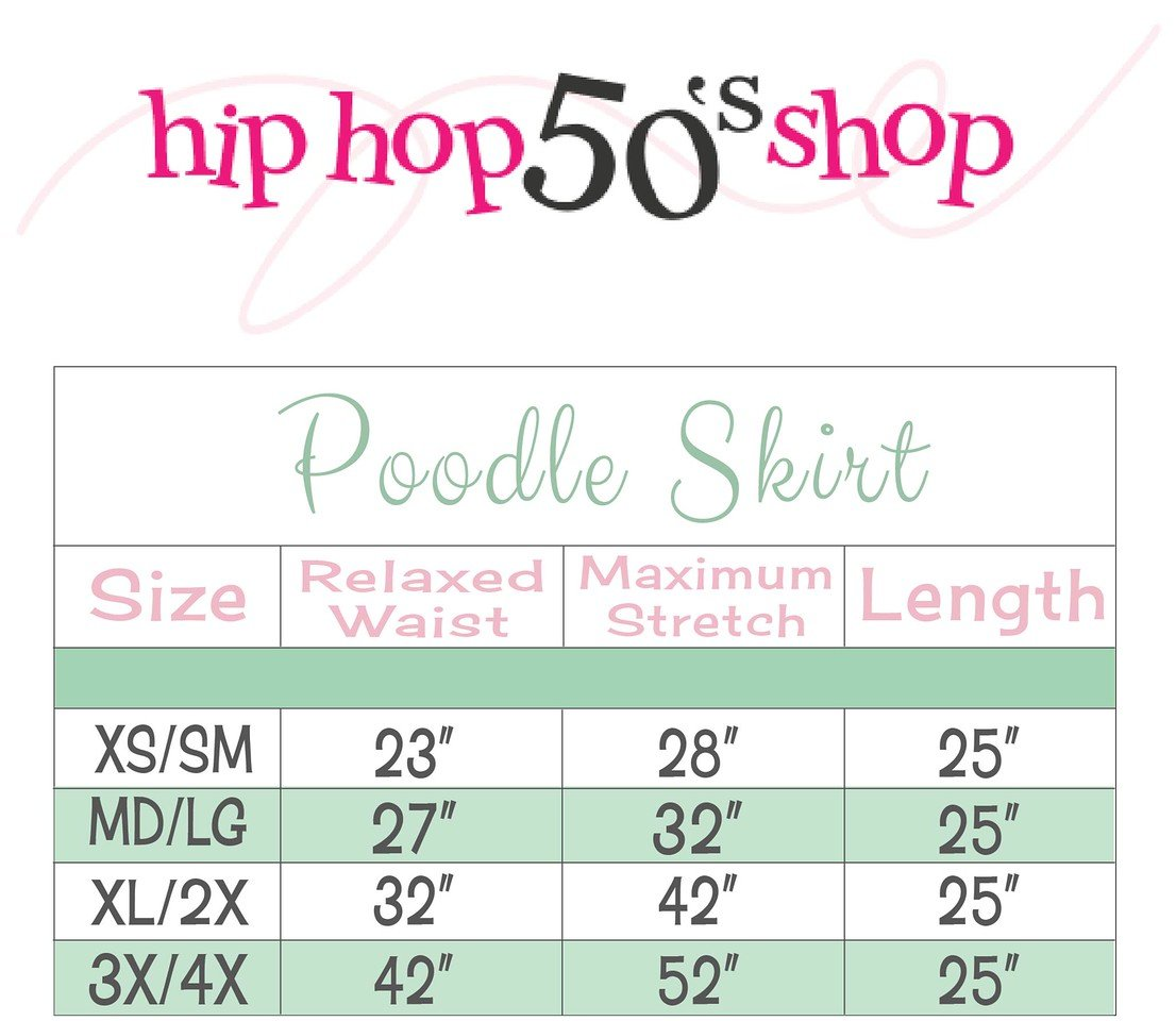Hip Hop 50s Shop Adult 7 Piece Poodle Skirt Costume Set Teal Medium by Hip Hop 50s Shop (Image #5)