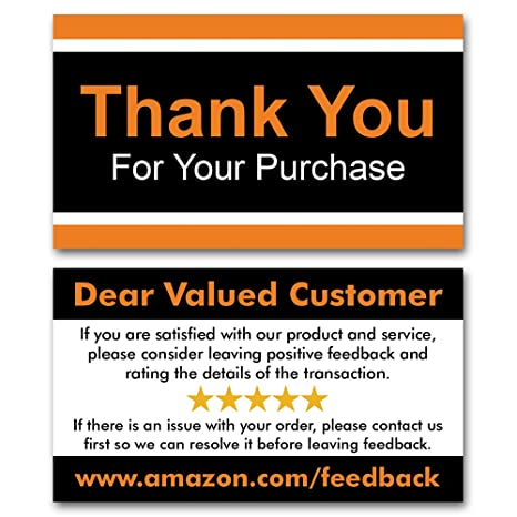 b5ad74430e4 Amazon.com   Kachy Design - Thank You For Your Purchase Cards - (Pack of  1000) - 16PT (Thick) - Glossy - Business Card Size   Office Products