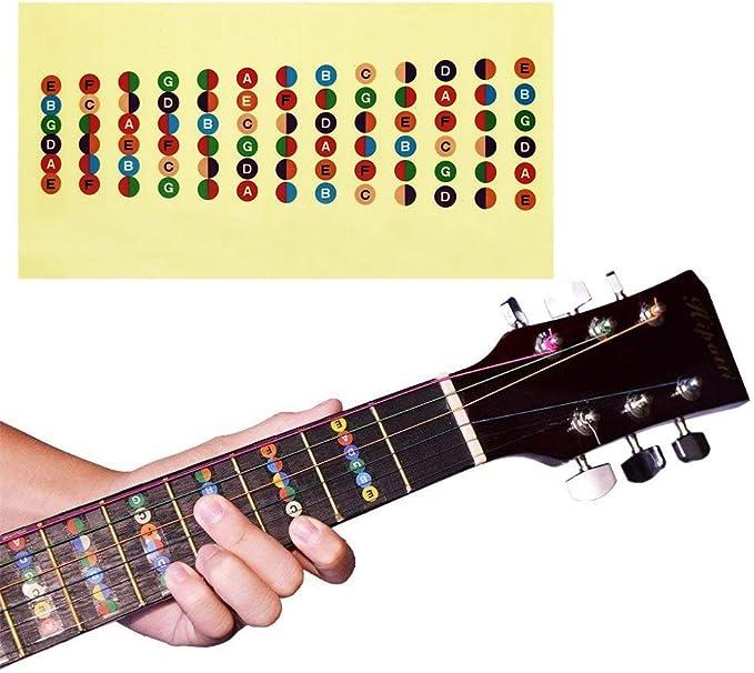 Vinilo impermeable y a prueba de aceite fretboard de la guitarra ...