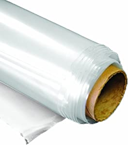 SUNVIEW Greenhouse Plastic Clear 6 mil, 4 Year, Polyethylene Covering Film 10 ft. Wide x 25 ft. Long