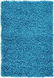 "Unique Loom Solid Shag Collection Turquoise 2 x 3 Area Rug (2' 2"" x 3')"